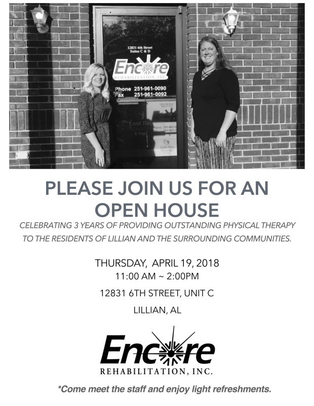 Encore Lillian Open House Invite