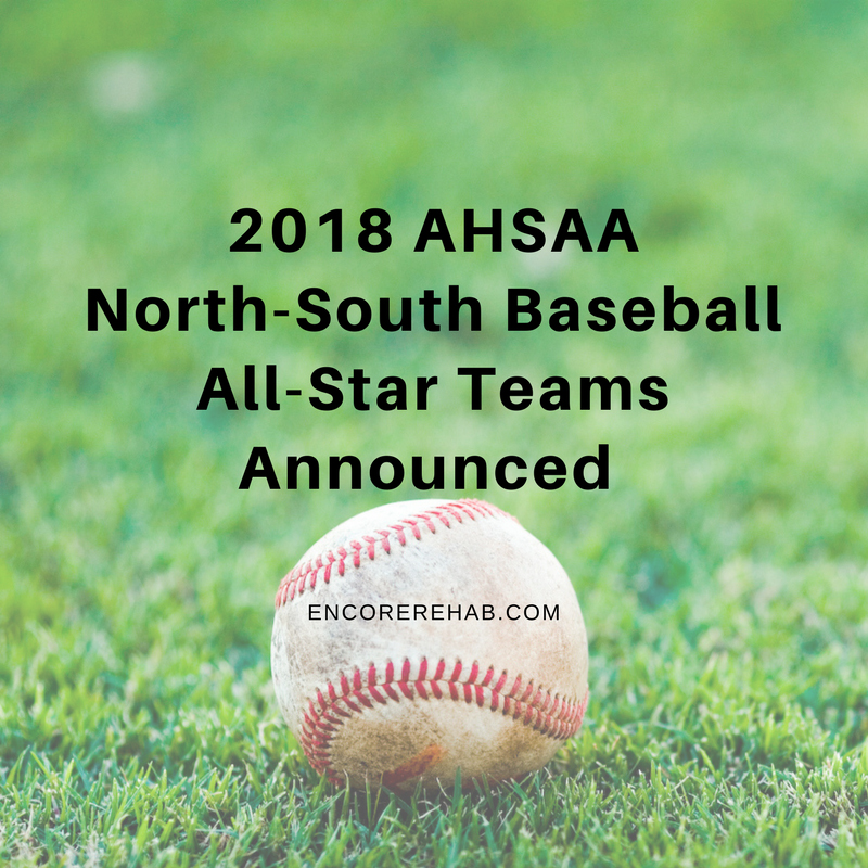 Used baseball sitting on grass field with 2018 AHSAA North-South Baseball All-Star Teams Announced on photo