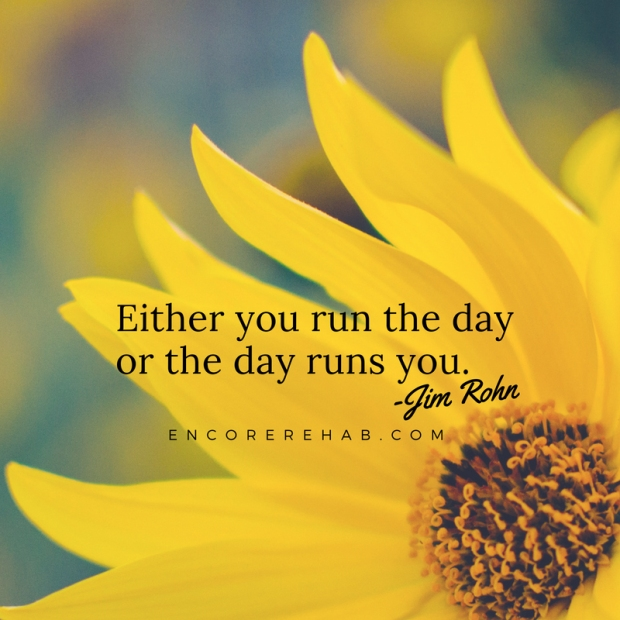 Run the day or the day runs you