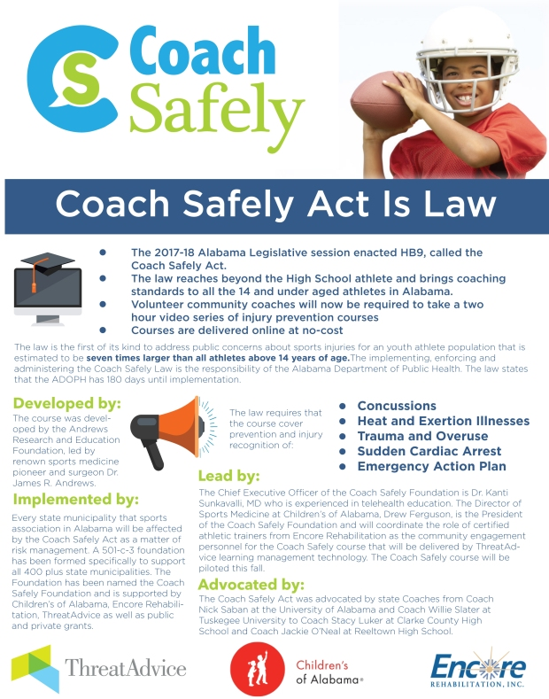 Flyer outlining Coach Safely Program