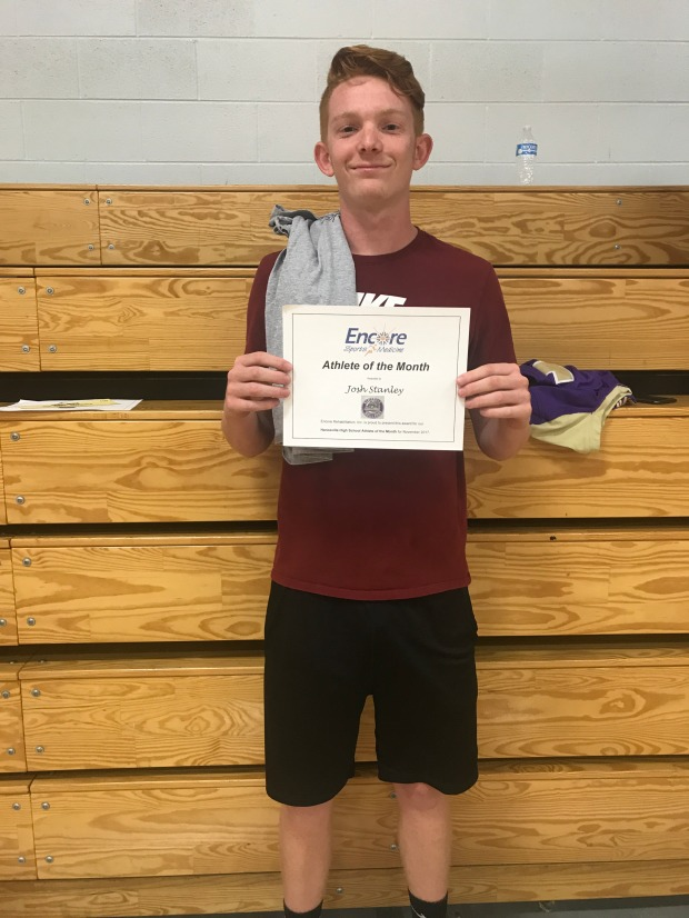 Josh Stanley, Athlete of the Month for Hanceville High School and Encore Rehabilitation-Cullman.
