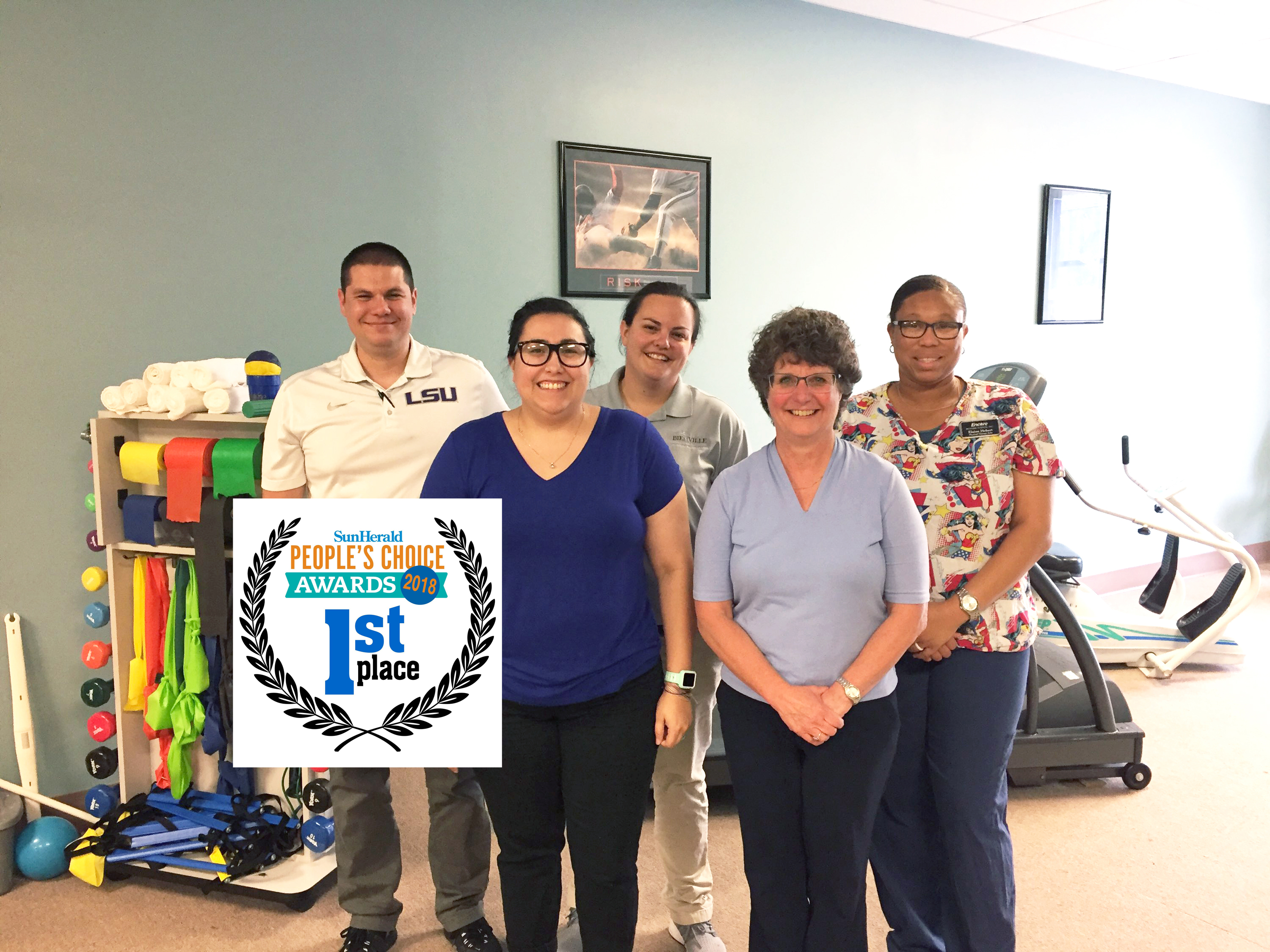 Encore Rehabilitation-Long Beach wins 1st Place Physical Therapy Clinic in the 2018 Sun Herald People's Choice Awards