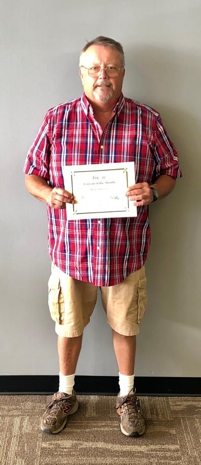 Mitch Bagel, Patient of the Month for Encore Rehabilitation-Fayette
