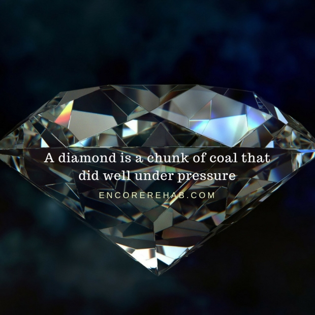 A diamond is a chunk of coal that did well under pressure