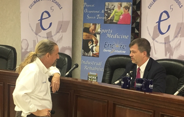 Dr. Shane Barnett of Cullman County Schools is interviewed at Cullman County Media Day. #EncoreRehab #EncoreSportsMedicine