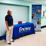 Encore Sports Medicine Athletic Trainer Melinda Wilson welcomes back staff of Winfield City Schools