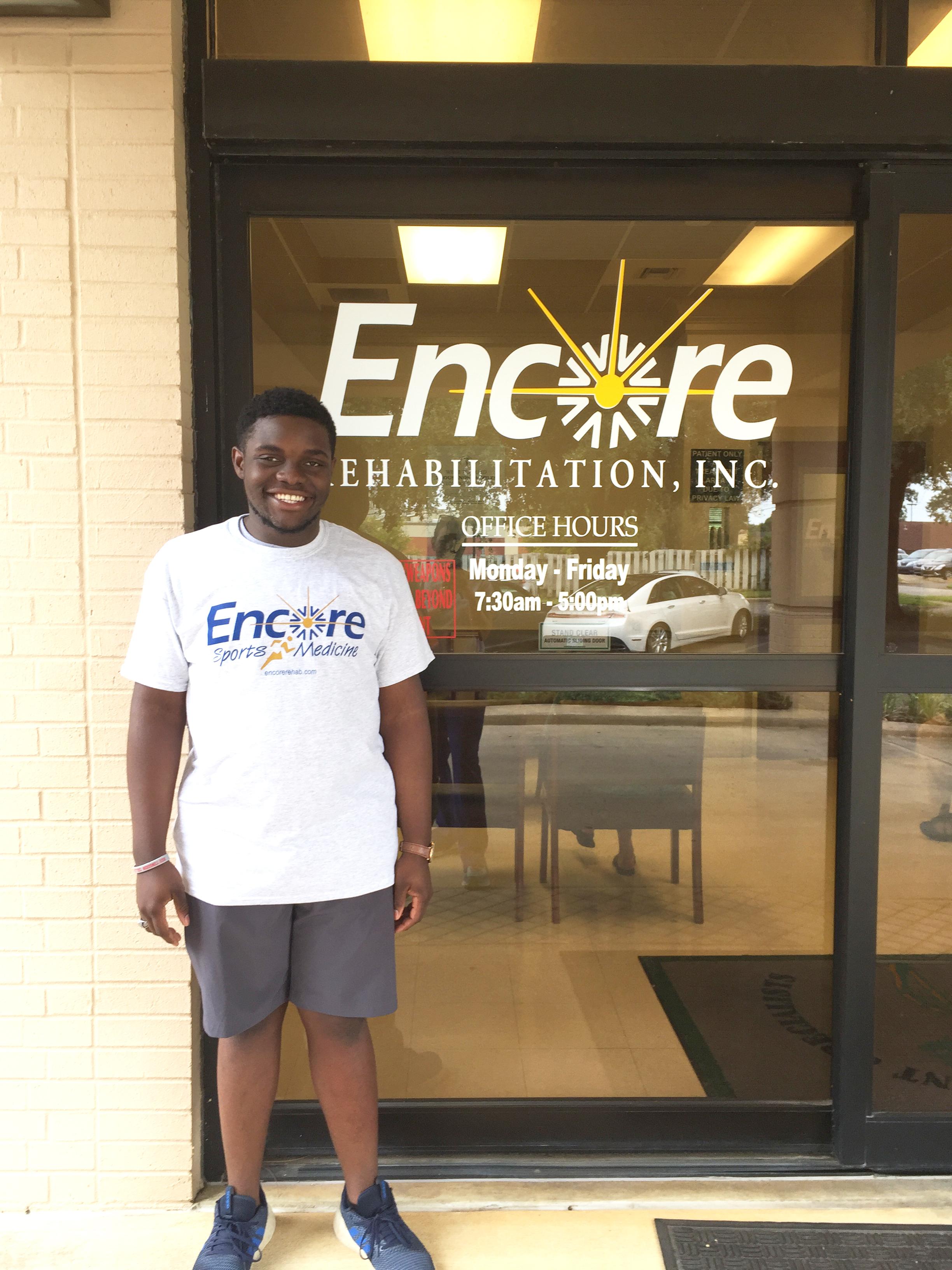 Dallas Luckett - Patient of the Month for Encore Rehabilitation-Enterprise
