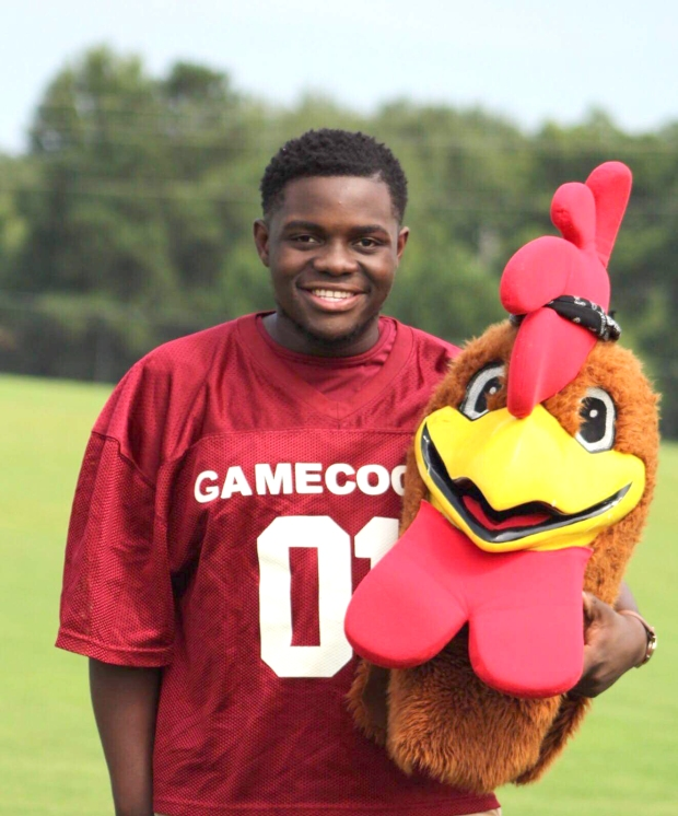 Dallas Luckett- New Brockton High Gamecock Mascot and Patient of the Month for Encore Rehabilitation-Enterprise, Alabama