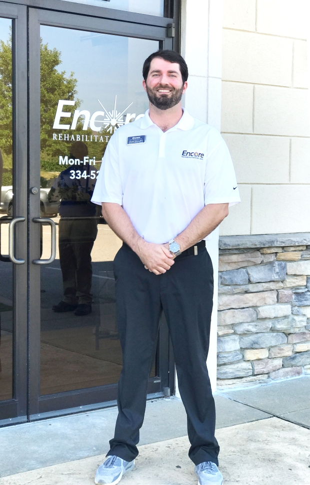 Clinical Director and Physical Therapist Daniel Winn with Encore Rehabilitation-Opelika, Alabama