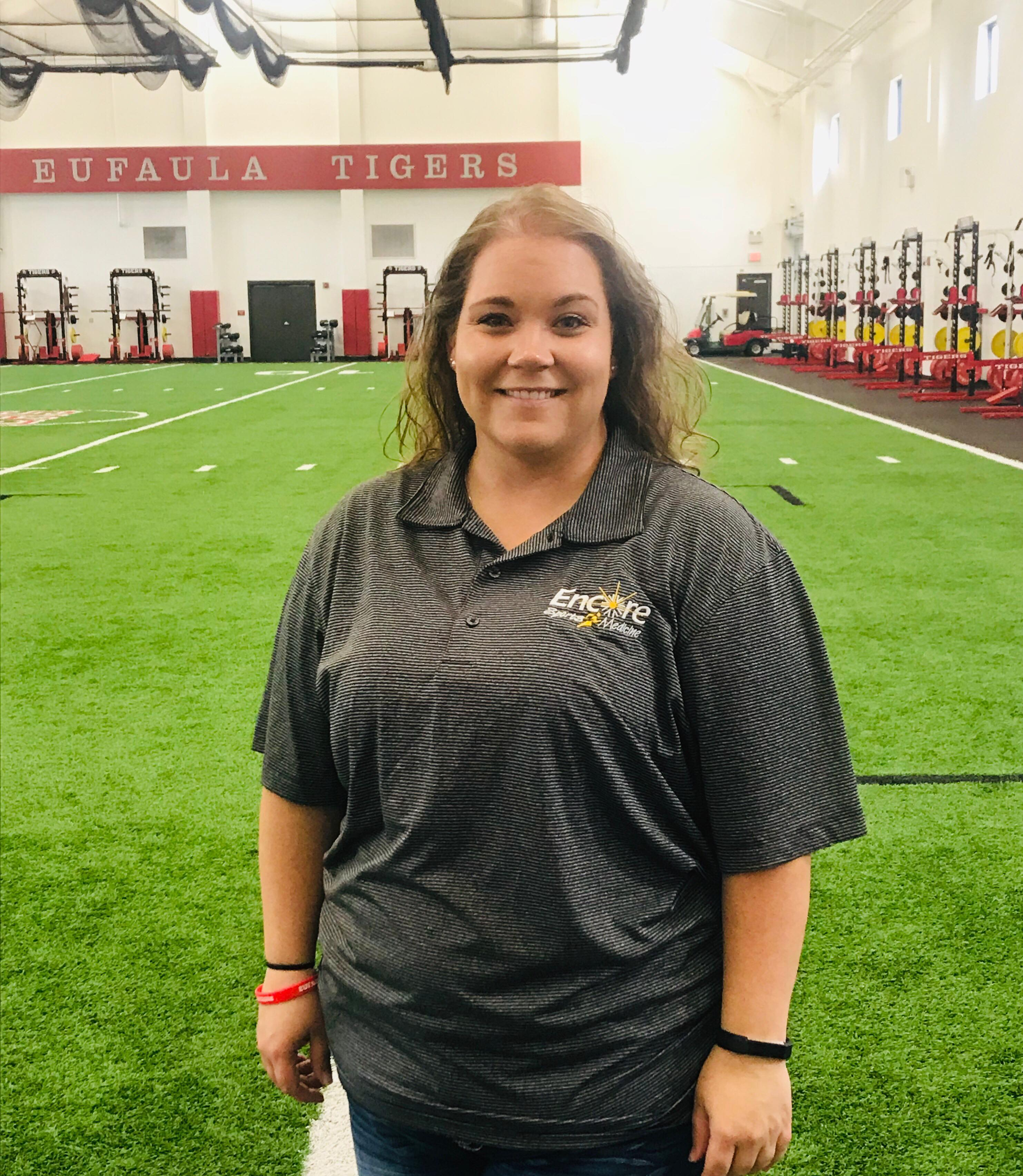 Encore Sports Medicine Athletic Trainer Jessica McManus at Eufaula High School