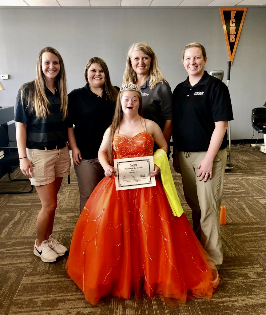 McKenzie Back - Fayette High School 12th Grade Homecoming Maid and Patient of the Month for Encore Rehabilitation-Fayette, Alabama