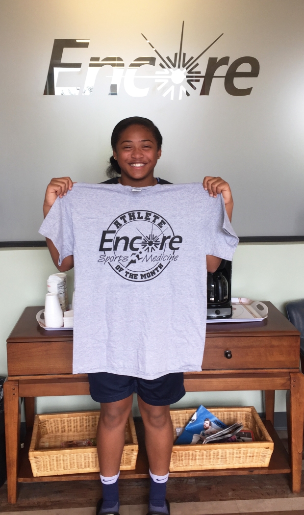Victoria Myles - Athlete of the Month for Encore Rehabilitation-Tillman's Corner. encorerehab.com
