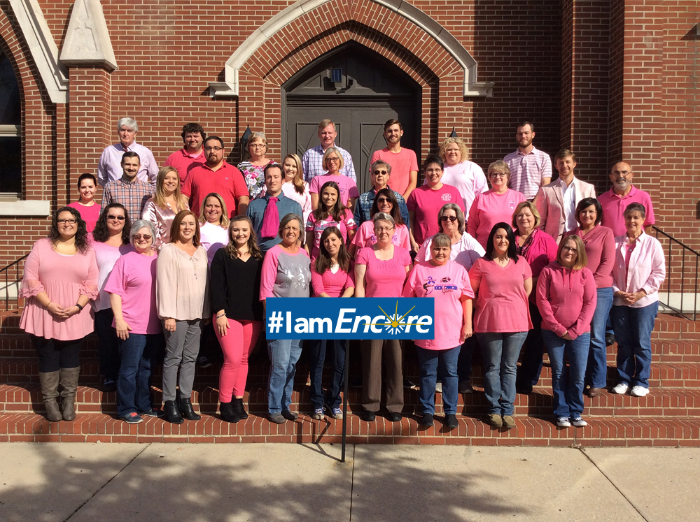 Encore Rehabilitation Corporate Offices Celebrates National Breast Cancer Awareness Month with a Pink Out Day! #EncoreRehab #IamEncore