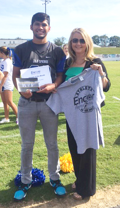 Franciso Ayala - Athlete of the Month for Cold Springs High School and Encore Rehabilitation #EncoreRehab