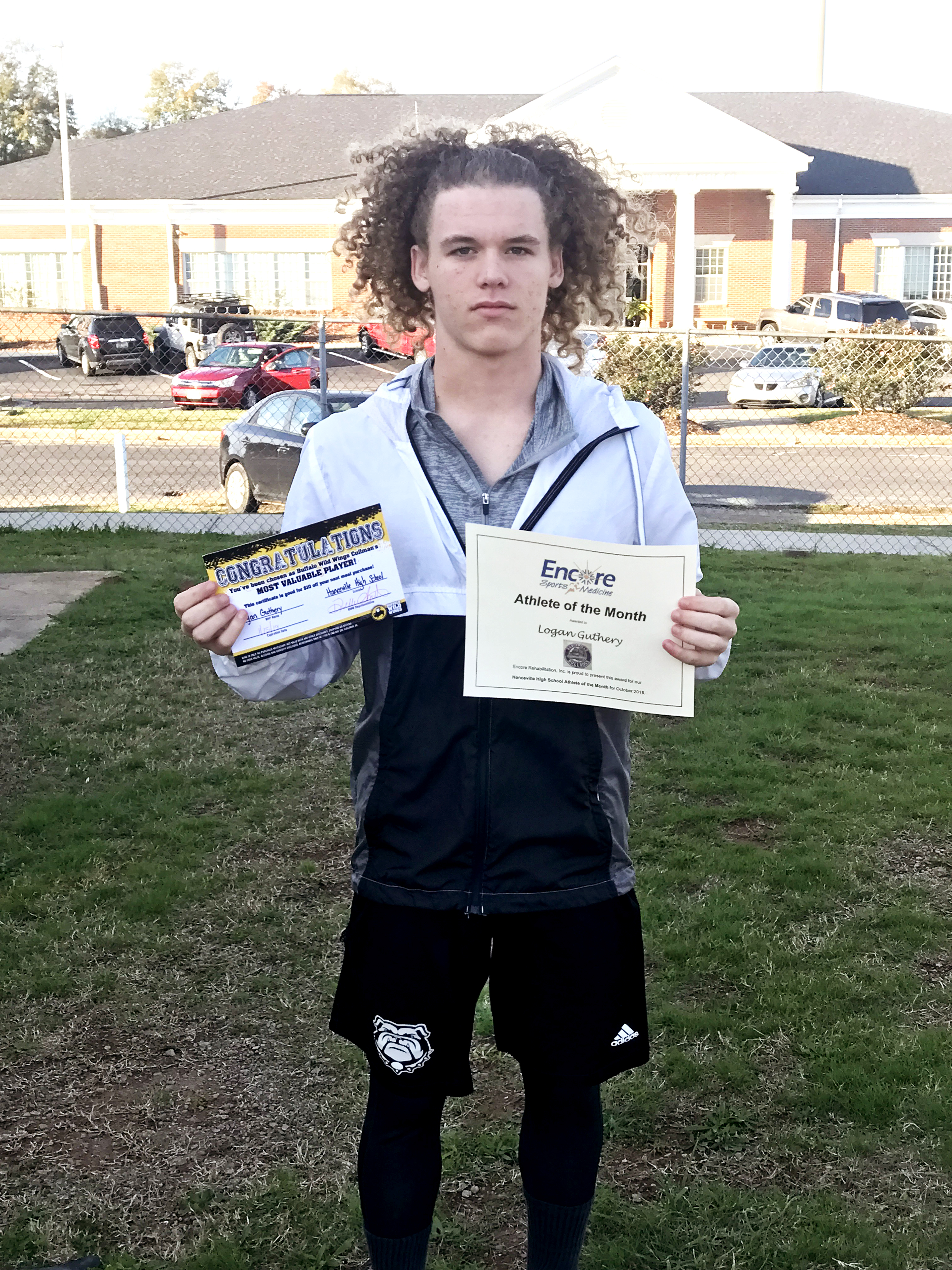 Logan Guthery is Athlete of the Month for Hanceville High School and Encore Rehabilitation-Cullman #EncoreRehab