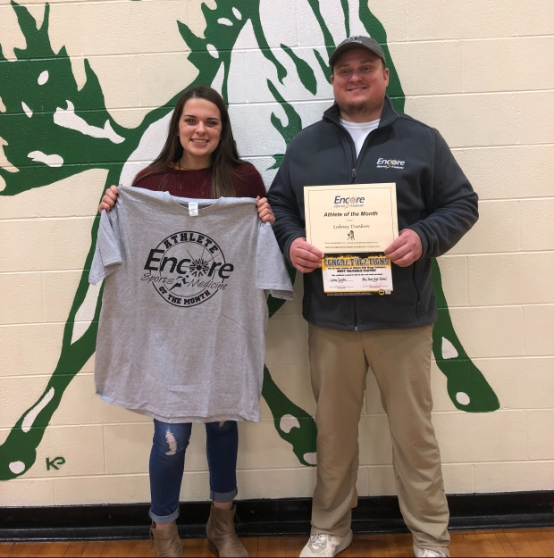Sydney Dunkin is Athlete of the Month for Holly Pond High School and Encore Rehabilitation-Cullman