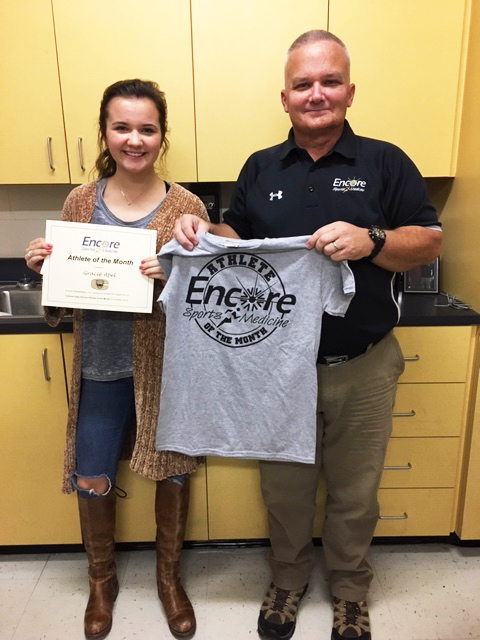 Gracie Apel is Athlete of the Month for Cullman High School and Encore Rehabilitaiton-Cullman