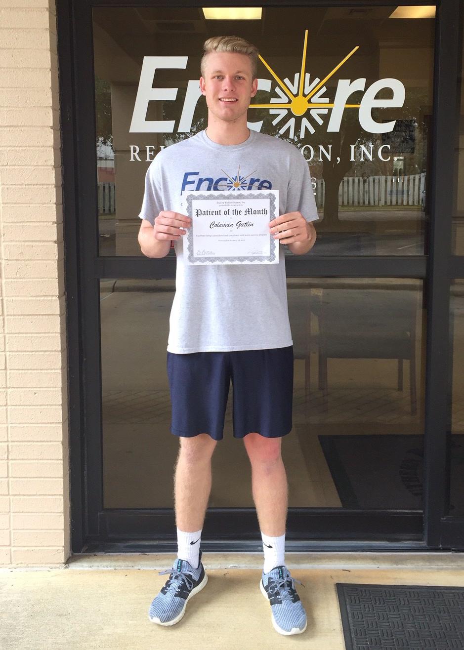 Patient of the Month - Coleman Gatlin with Encore Rehabilitation-Enterprise #EncoreRehab