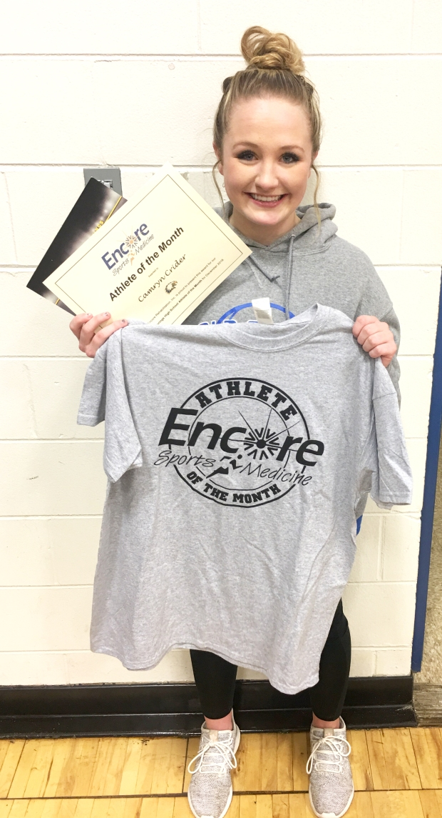 Camryn Crider is Athlete of the Month for Cold Springs High School and Encore Rehabilitation-Cullman