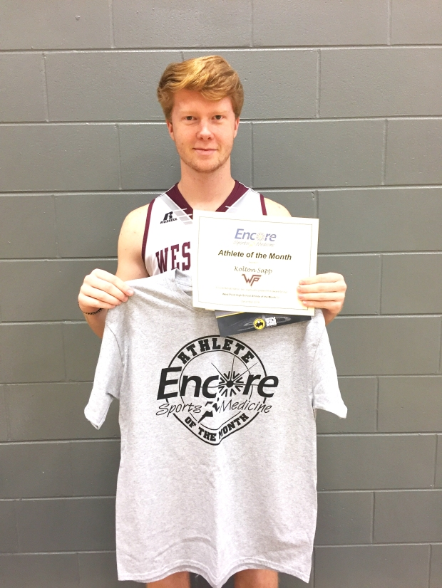 Kolton Sapp is Athlete of the Month for West Point High School and Encore Rehabilitation-Cullman #EncoreRehab