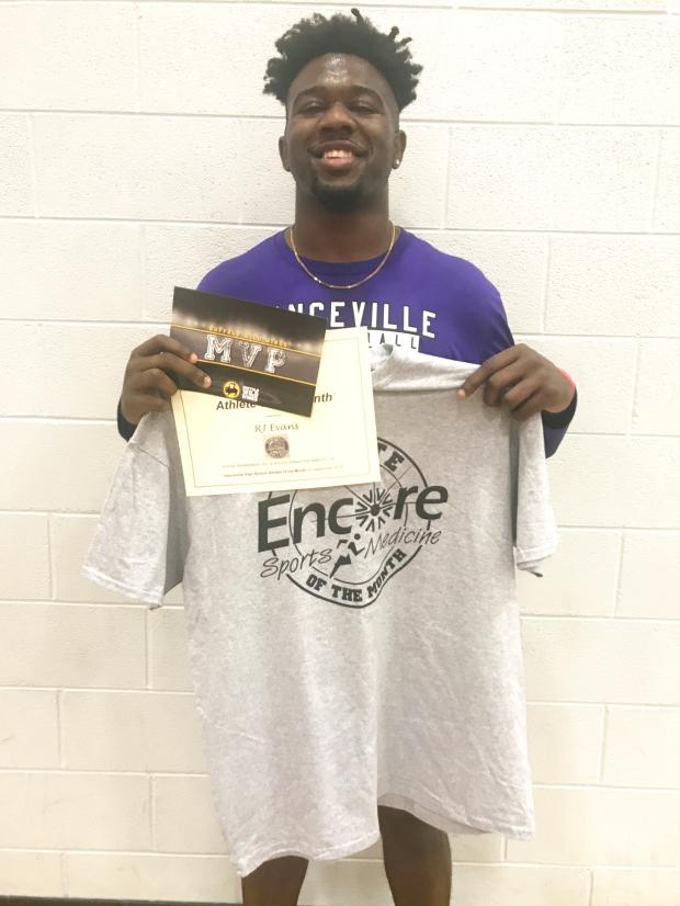 RJ Evans is Athlete of the Month for Hanceville High School and Encore Rehabilitation-Cullman #EncoreRehab