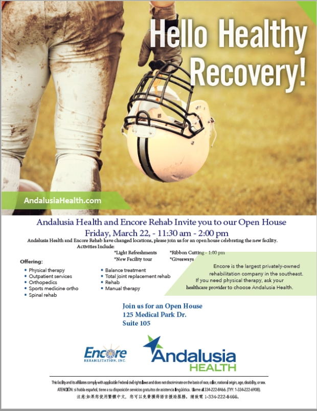 Andalusia Open House Flyer March 2019