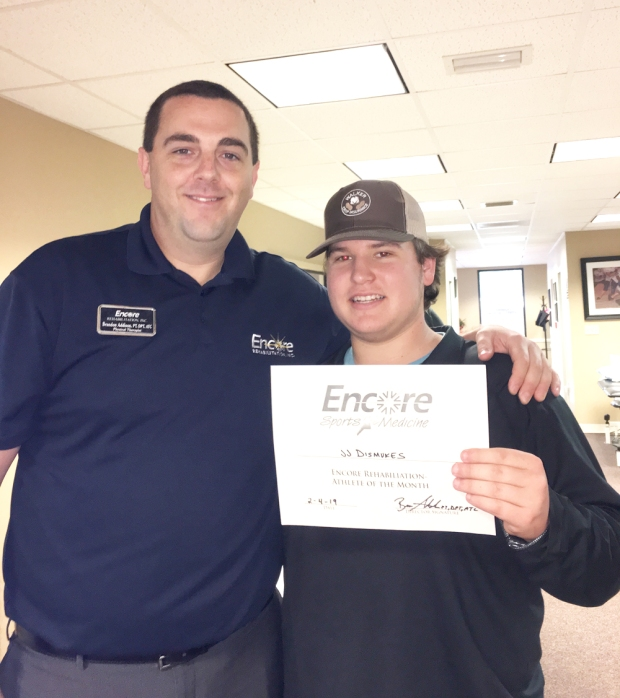 JJ Dismukes is Athlete of the Month for Encore Rehabilitation-Eufaula #EncoreRehab