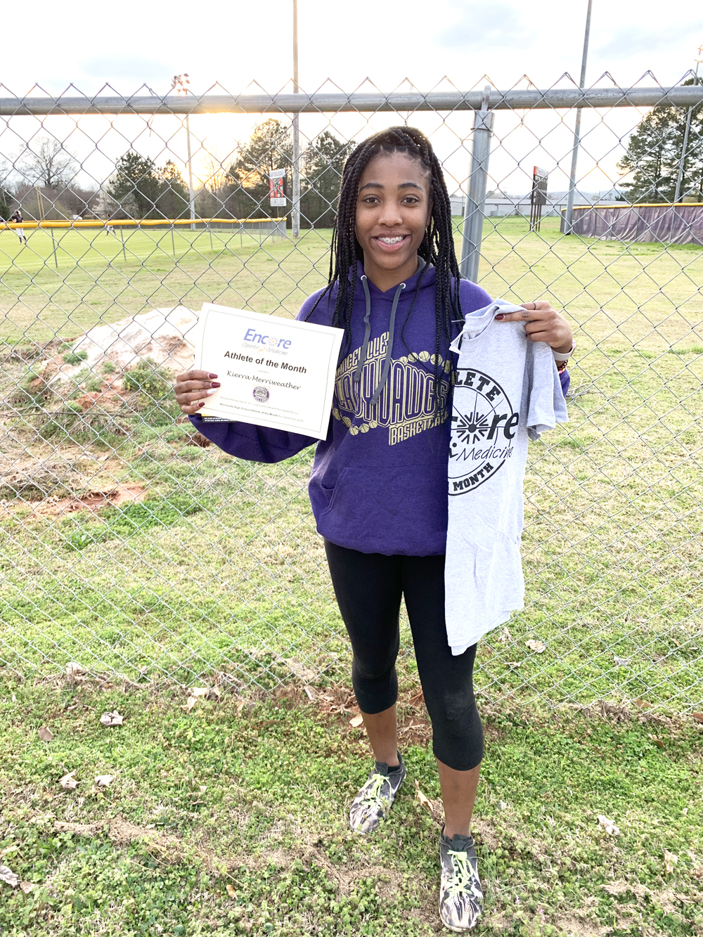 Kierra Merriweather is Athlete of the Month for Hanceville High School and Encore Rehabilitation-Cullman #EncoreRehab