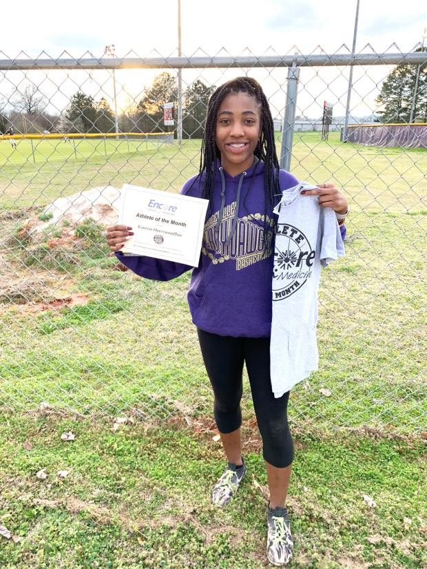 Kierra Merriweather is Athlete of the Month for Hanceville High School and Encore Rehabilitation-Cullman #EncoreRehab