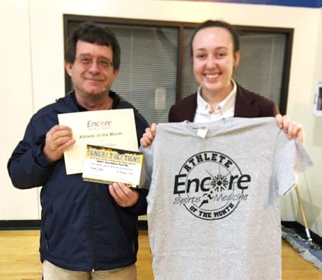 Claudia Fallin is Athlete of the Month for St. Bernard Preparatory School and Encore Rehabilitation-Cullman #EncoreRehab