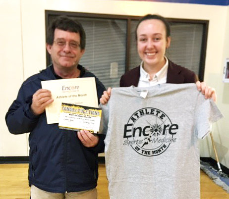 Claudia Fallin is Athlete of the Month for St. Bernard Preparatory School and Encore Rehabilitation-Cullman #EncoreRehab
