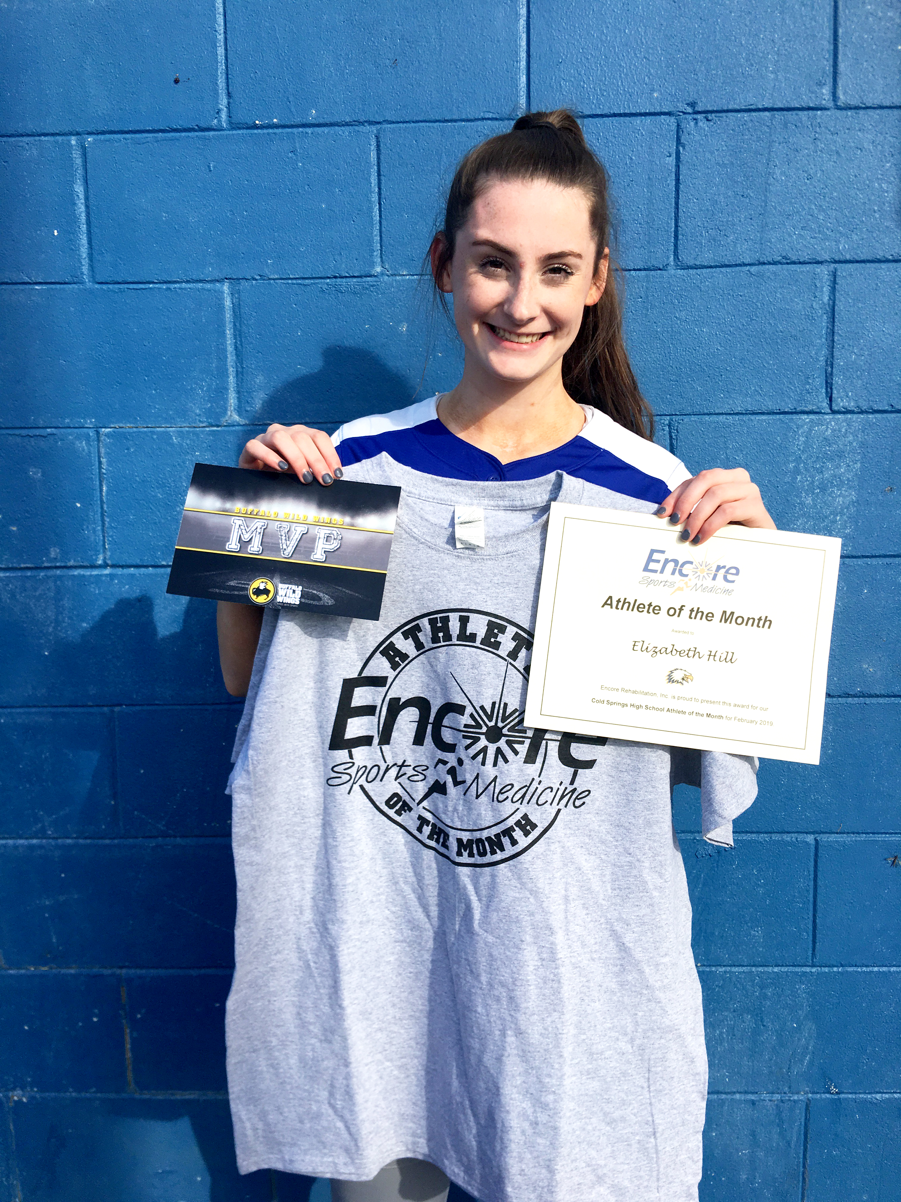 Elizabeth Hill is Athlete of the Month for Cold Springs High School and Encore Rehabilitation-Cullman #EncoreRehab