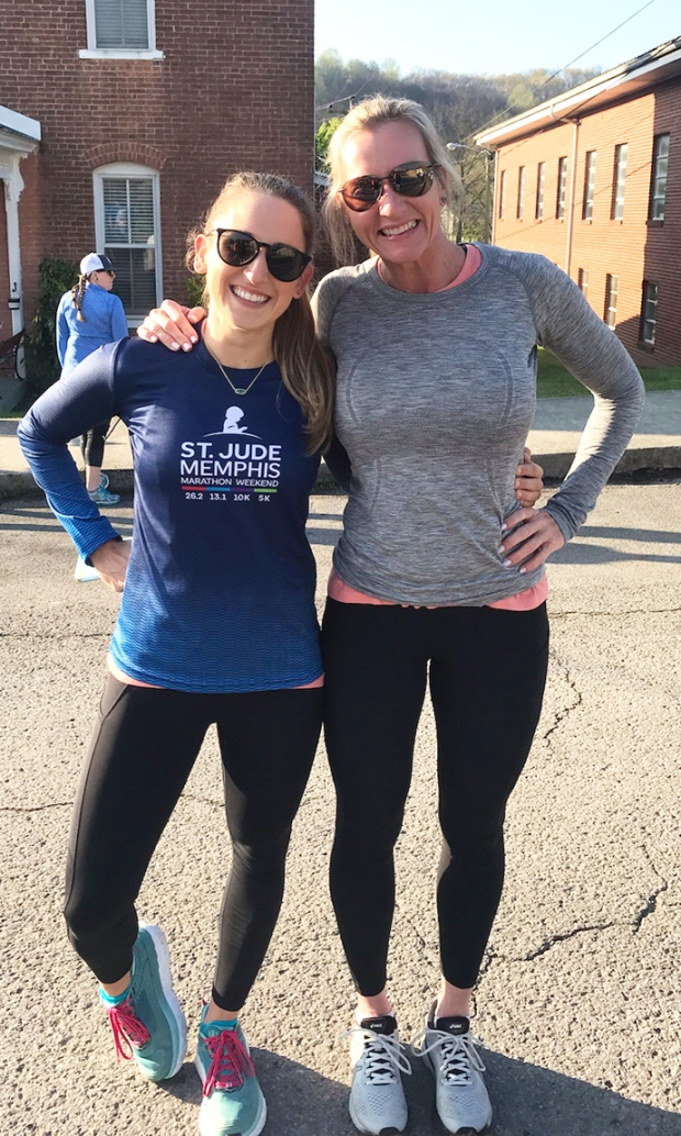 Encore Rehabilitation Clinical Director Emily LaRue, DPT, is seen her with her friend, Jill. #EncoreRehab
