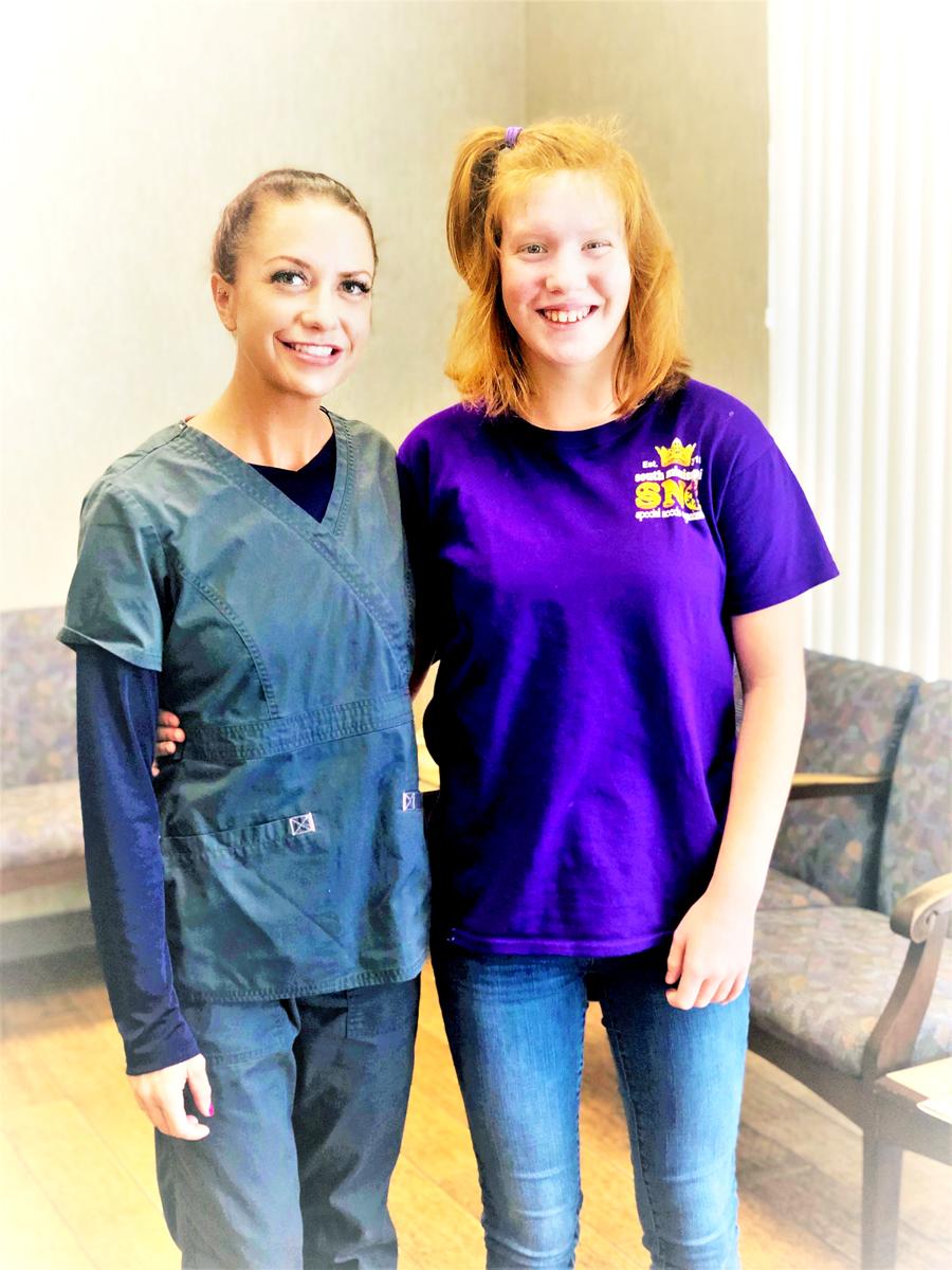 Encore Rehabilitation Speech-Lanugague Pathologist Jeni Riddle with Marimae #EncoreRehab