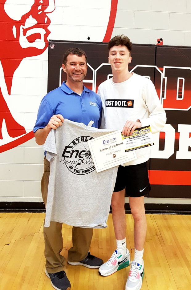 Noah Fendley - January Athlete of the Month for Good Hope High School and Encore Rehabilitation-Culllman #EncoreRehab