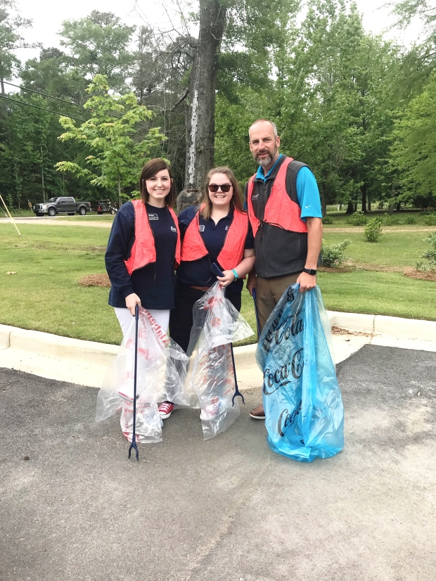 Encore Rehabilitation-Pike Road Staff participate in a community clean-up! #EncoreRehab