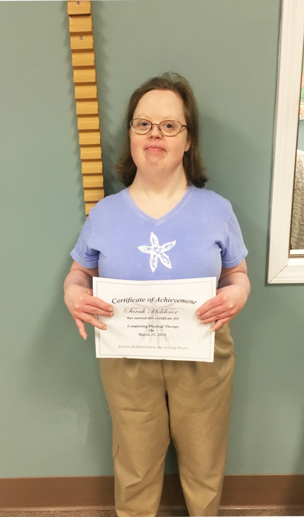 Sarah Holdereris Patient of the Month for Encore Rehabilitation-Long Beach #EncoreRehab