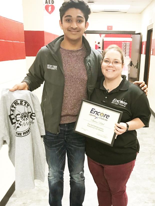 Savan Patel is Athlete of the Month for Encore Rehabilitation-Eufaula #EncoreRehab