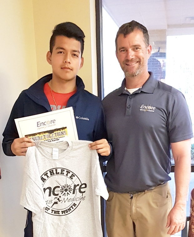 Andres Aguilar is Athlete of the Month for Good Hope High School and Encore Rehabilitation-Cullman #EncoreRehab
