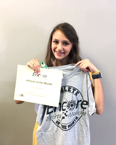 Gracie Rodgers is Athlete of the Month for Addison High School and Encore Rehabilitation-Cullman #EncoreRehab