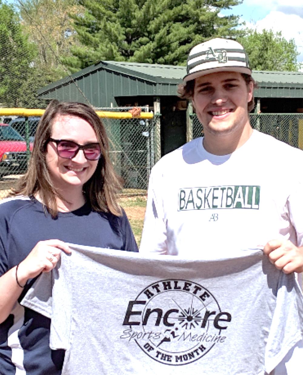 Encore Rehabilitation-Athens Athlete of the Month Cade Abernathy with Encore Sports Medicine Athletic Trainer Raye Anne Swift #EncoreRehab