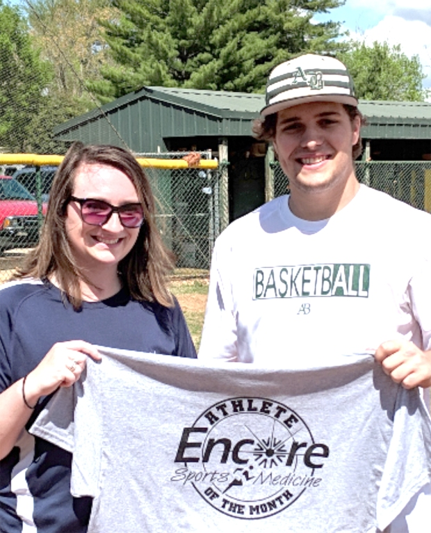 Encore Rehabilitation-Athens Athlete of the Month Cade Abernathy with Encore Sports Medicine Athletic Trainer Raye Anne Swift #EncoreRehab