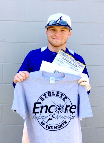 Gage Gilliland is the February Athlete of the Month for Addison High School and Encore Rehabilitation-Cullman