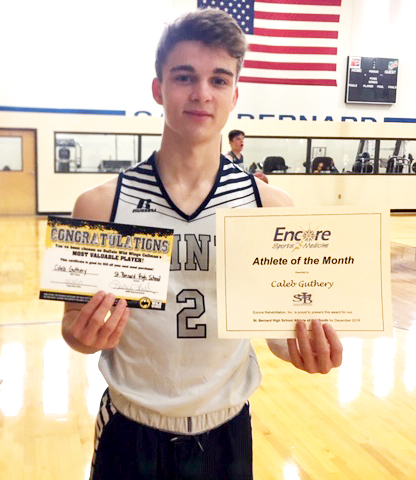 Caleb Guthery is Athlete of the Month for Saint Bernard Preparatory School and Encore Rehabilitation-Cullman #EncoreRehab