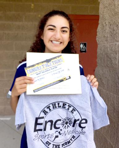 Daniela Hernandez is Athlete of the Month for Saint Bernard Preparatory School and Encore Rehabilitation-Cullman
