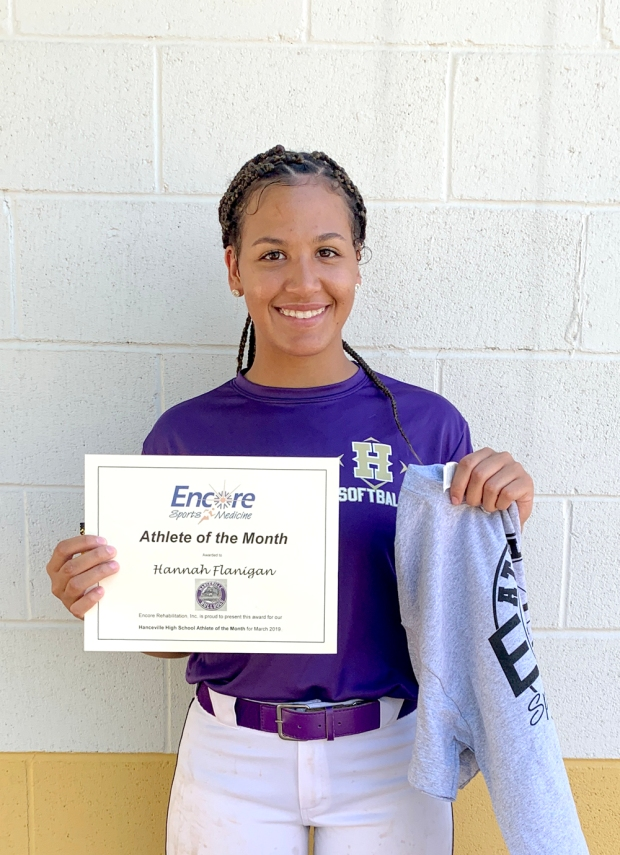 Hannah Flanagan is Athlete of the Month for Hanceville High School and Encore Rehabilitation #EncoreRehab