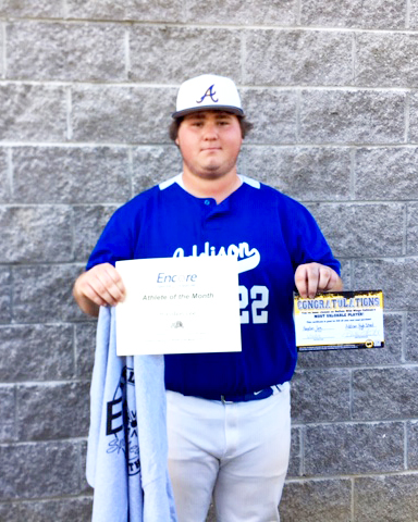 Hayden Lee is Athlete of the Month for Addison High School and Encore Rehabilitation-Cullman #EncoreRehab