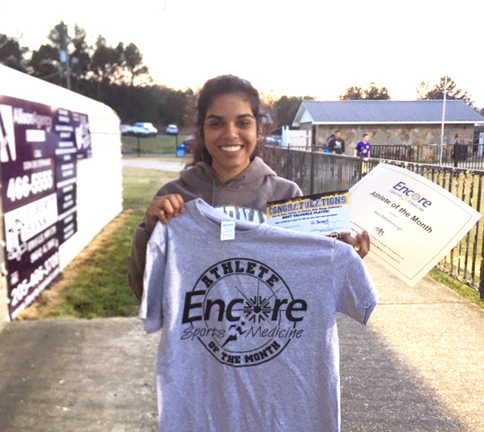 Jaya Bahadursingh is Athlete of the Month for Saint Bernard Preparatory School and Encore Rehabilitation-Cullman #EncoreRehab