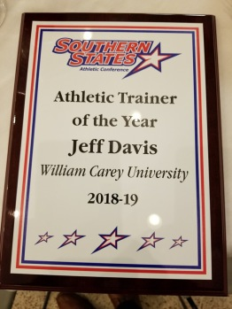 Jeff Davis ATC AT Award SSAC 3 William Carey