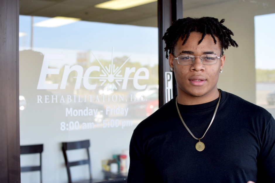 Khannan Durr is Athlete of the Month for Encore Rehabilitation-Center Point